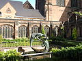 """The Water of Life"" sculpture in Chester Cathedral cloister garth (17).JPG"