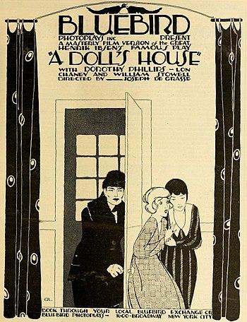 'A Doll's House'. American silent drama film, 1917