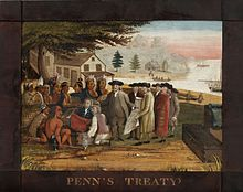 'Penn's Treaty -with the Indians-', oil on canvas painting by Edward Hicks, 1830-35, Philadelphia Museum of Art.jpg