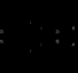 Strukturformel von (±)-Hydroxyzin