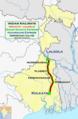 (Kolkata - Lalgola) Hazarduari Express and Dhano Dhanye Express route map.png