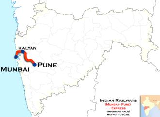 Sinhagad Express - (Mumbai - Pune) Express trains route map