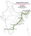 (New Tinsukia - Bengaluru) Express route map.png