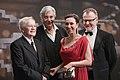 Österreichischer Filmpreis 2017 photo call Stefan Ruzowitzky Ursula Strauss Peter Simonischek István Szabó 2.jpg