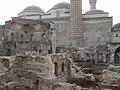 Üç Şerefeli Mosque during restoration 4363.jpg