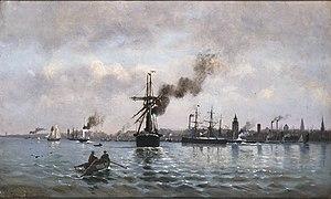 Αλταμούρας Ιωάννης - Το λιμάνι της Κοπεγχάγης, 1874.jpg