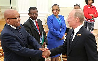 Jacob Zuma - Zuma in Moscow to celebrate the 70th anniversary of the end of World War II, 9 May 2015