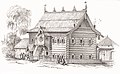 Деревня Вичуга, Костромская Губерния. Рисунок Никанора Чернецова, 1838 год.jpg
