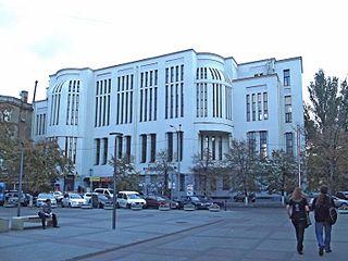 Frühes Zeugnis konstruktivistischer Architektur: Das 1912 errichtete Gebäude der Philharmonie