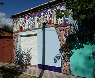 Lubok - A modern rural shed with lubok decoration