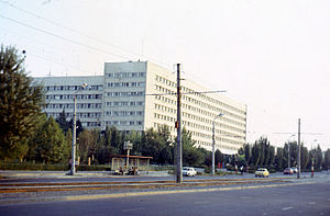 Turkestan Military District - Staff building of the Turkestan Military District, Tashkent, 1977