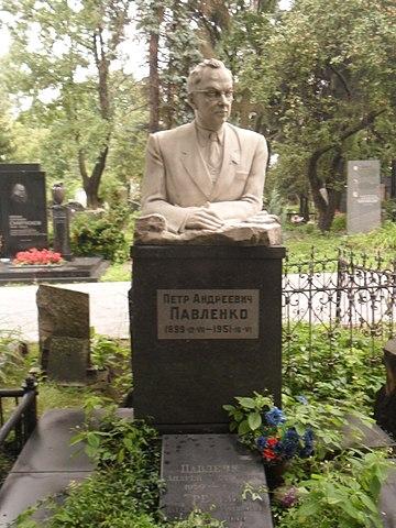 Могила Павленко на Новодевичьем кладбище Москвы.