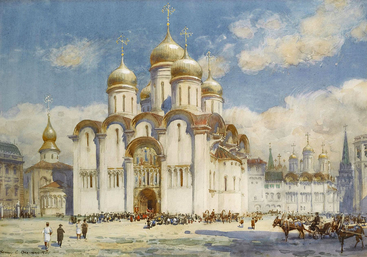 Успенский собор в XIX веке. Картина Генри Чарльза Брюэра.