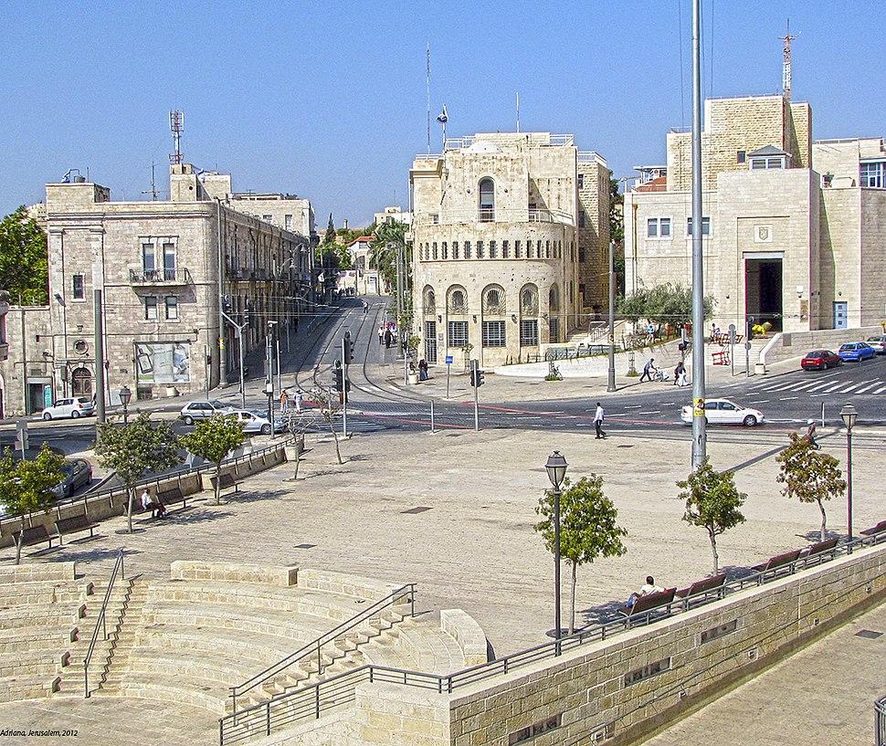 בניין עיריית ירושלים מהחומה