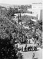 """ירושלים - הפגנה נגד """"הספר הלבן"""" בדרך אל המזכירות הראשית של ממשלת א""""י.-JNF043140.jpeg"""