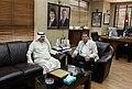 عزيز الديحاني السفير الكويتي في الأردن مع رئيس تحرير الدستور مصطفى الريالات 06.jpg