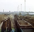 0-6-0 diesel shunter 08619, on the Leicester to Burton line, propelling empty wagons to be loaded with scrap in the ex-Great Central goods yard, Nigel Tout, 30.12.75.jpg