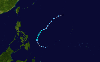 1968 Pacific typhoon season - Image: 01W 1968 track
