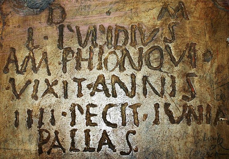 0274 - Roma - S. Silvestro in Capite - Lapide romana - Foto Giovanni Dall'Orto, 11-Apr-2008.jpg