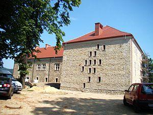Sanok Castle - Image: 08728 Sanok Castle undergoing restoration in 2011