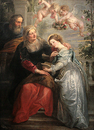 Royal Museum of Fine Arts Antwerp - The Education of Mary by Peter Paul Rubens.