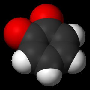 1,2-Benzoquinone - Image: 1,2 benzoquinone 3D vd W