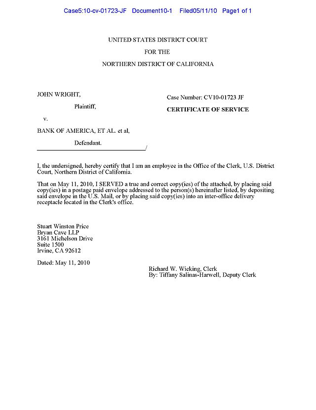 Notice of electronic filing - Wikiwand