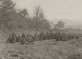 """Lost Battalion (World War I) - Members of the """"Lost Battalion"""" in late October 1918 near Apremont."""