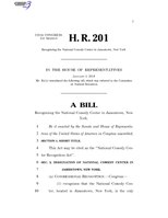 116th United States Congress H. R. 0000201 (1st session) - National Comedy Center Recognition Act.pdf