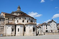 12th century Roman church at Souillac, exterior from the Southside with apsis - panoramio.jpg