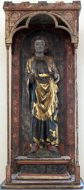 Pancras of Rome - Shrine to St Pancras, made in northern Germany, circa 1300.