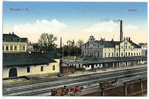 15517-Meerane-1913-Bahnhof-Brück & Sohn Kunstverlag