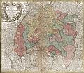 1740 Seutter Map of Swabia and Wirtenberg, Germany - Suevicus-Seutter-1740 Reprint.jpg