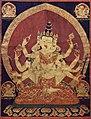 17th century Central Tibeten thanka of Guhyasamaja Akshobhyavajra, Rubin Museum of Art edit.jpg