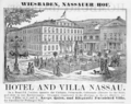 1885 Hotel Nassau Wiesbaden ad Harpers Handbook for Travellers in Europe.png