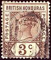 1891 3c British Honduras used Yv40 Mi33 SG53.jpg