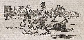 Spielphase mit zwei Feldspielern von jeder Seite