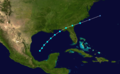 1907 Atlantic tropical storm 3 track.png
