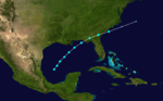 1907 Atlantic tropical storm 3 track.png