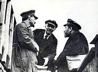 Trotsky, Lénine et Kamenev en 1919.