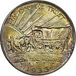 1933 Oregon Trail Memorial half dollar reverse.jpg