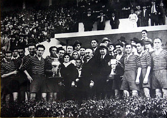 "FC Universitatea Cluj - Ripensia Timișoara winning the 1933–34 Romanian Cup against ""U"""