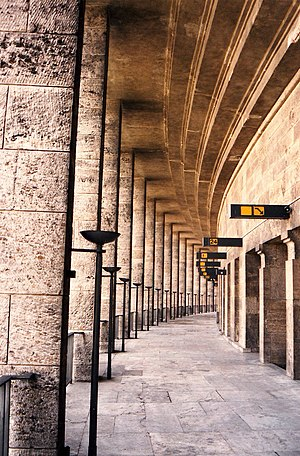 Welthauptstadt Germania - The Olympiastadion in 1993, its pre-War architecture intact.