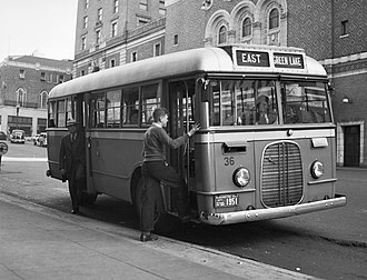 Ford Transit Bus - A 1937 Ford Transit Bus in Seattle when new