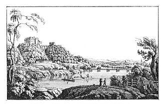 Mureck - 194 Schloss Ober-Mureck, Trate - J.F.Kaiser Lithografirte Ansichten der Steiermark 1830