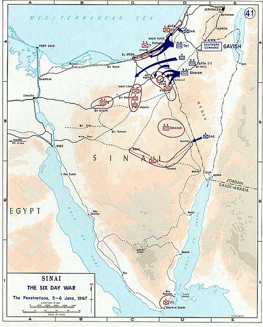 Conquest of Sinai. 5-6 June 1967 1967 Six Day War - conquest of Sinai 5-6 June.jpg