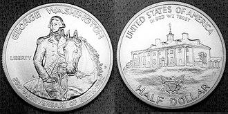Modern United States commemorative coins - 1982 George Washington Uncirculated Half Dollar