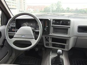 Ford Sierra - The dashboard of an early 1983 base model.