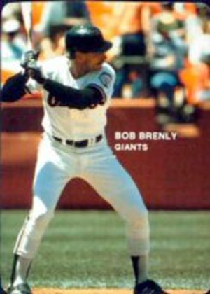 Bob Brenly - Brenly batting for the Giants in 1985