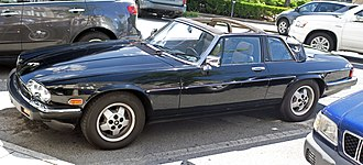 Jaguar XJS - 1986 Jaguar XJ-SC targa convertible (US spec, with twin headlights)